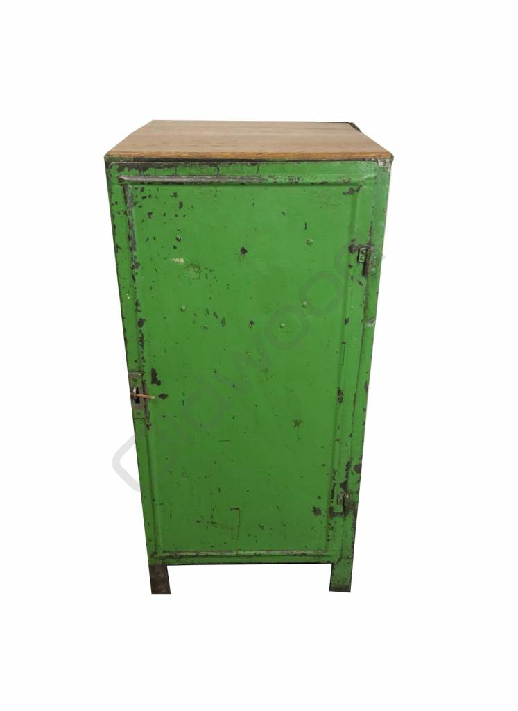 Industrieel meubel Vintage groene locker