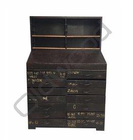 Industrieel meubel Originele industriële klepkast