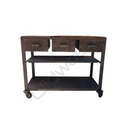 Industrieel meubel Industriële trolley