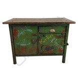 (Verkocht) Stoere groene dressoir