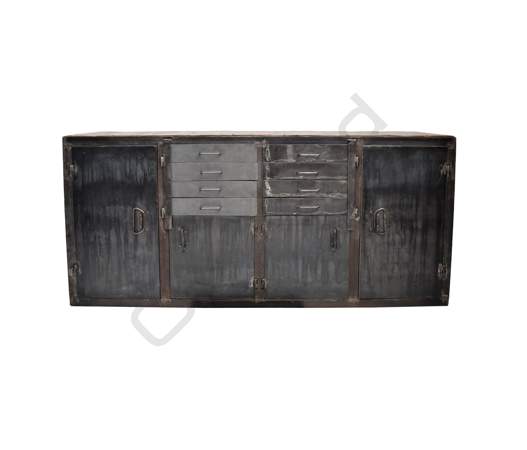 (Sold) Tough metal sideboard