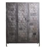 Grote metalen locker met uniek patroon