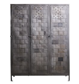 Large metal locker with unique pattern