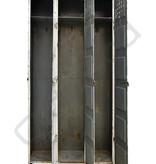 Industrial locker three-door white