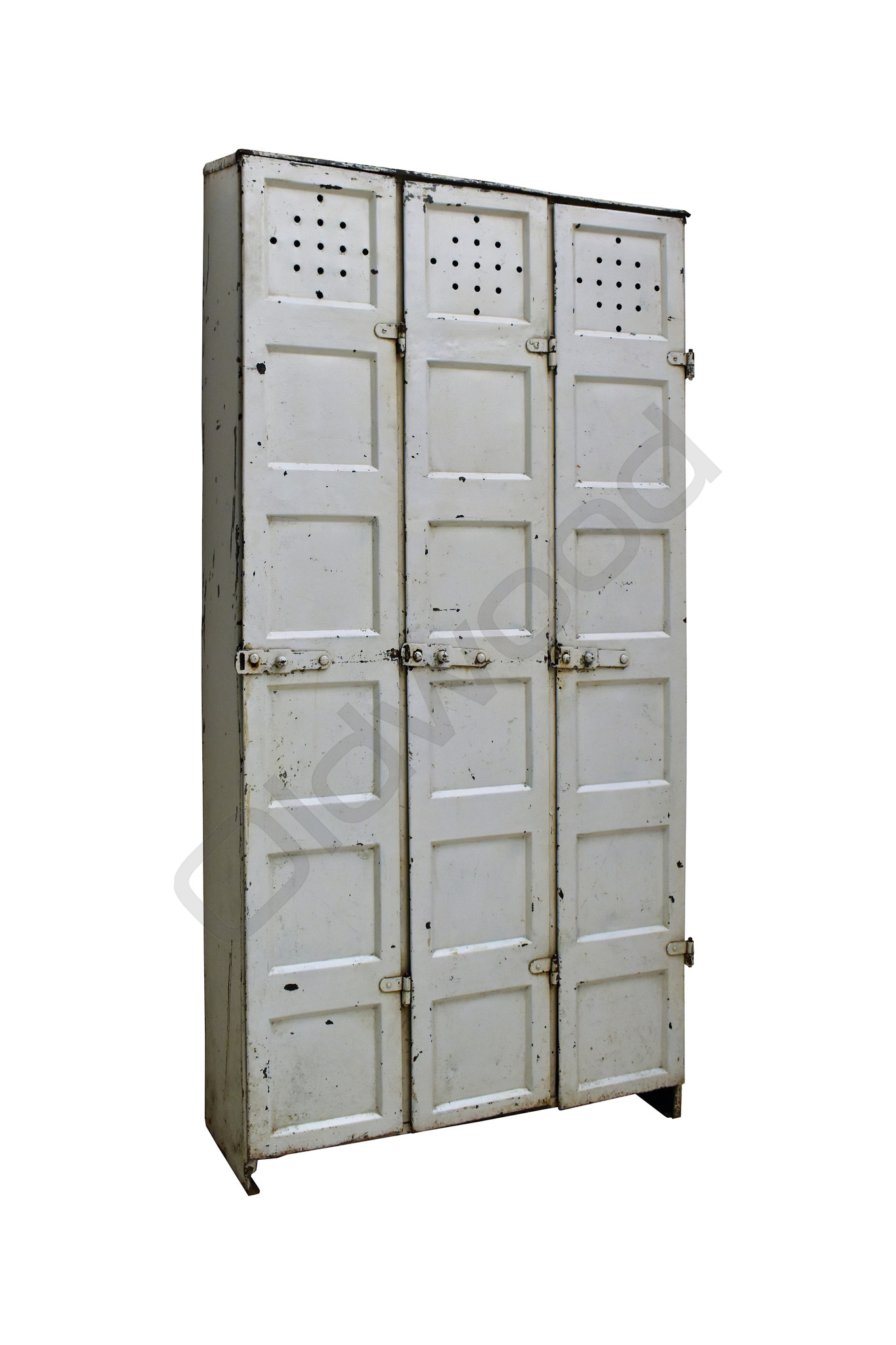 Industriële lockerkast driedeurs wit