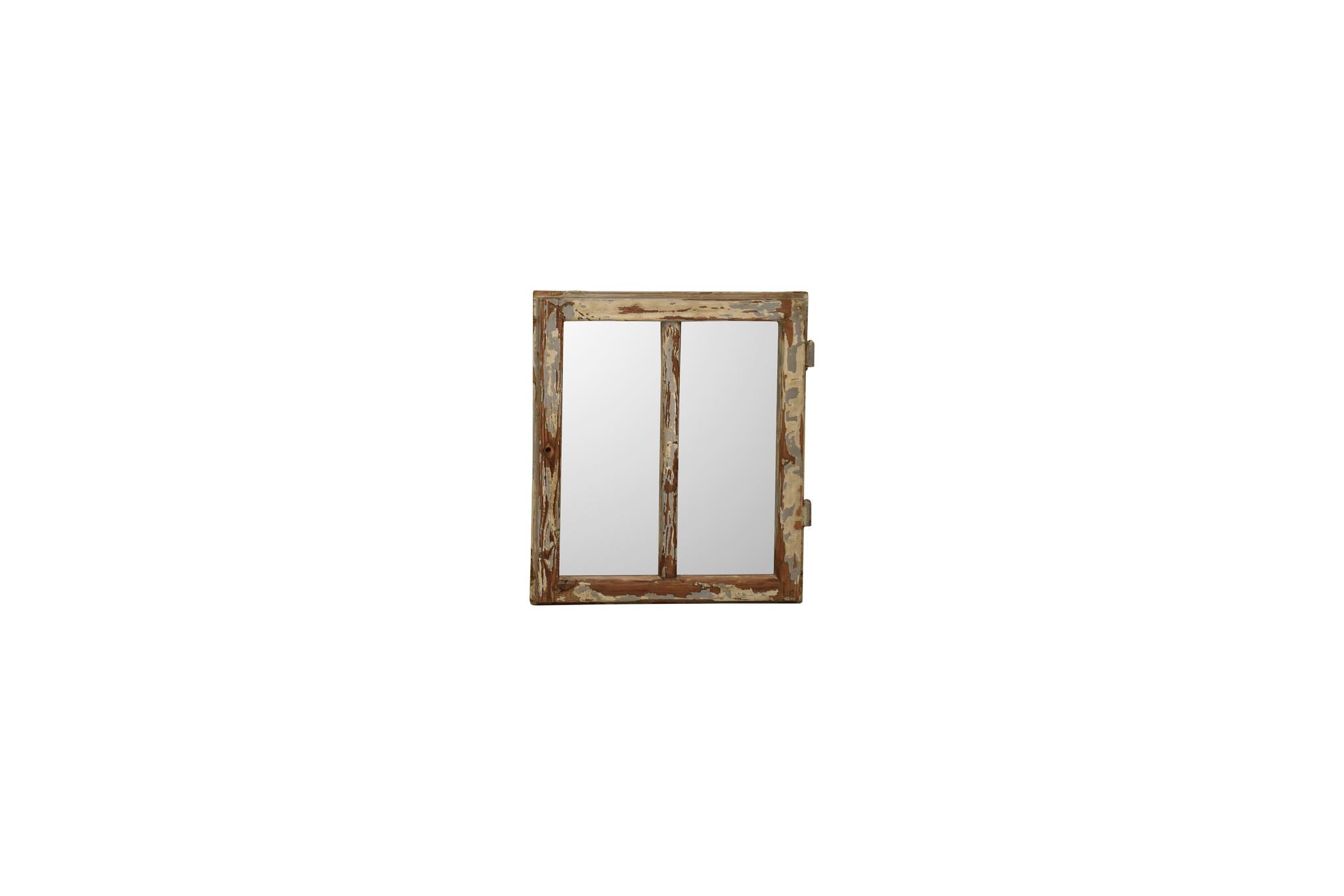 Houten stalraam spiegel