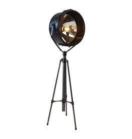 Industrieel meubel Vintage theater lamp op statief