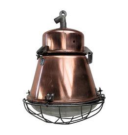 Industriële lamp - Tonnetje  koper