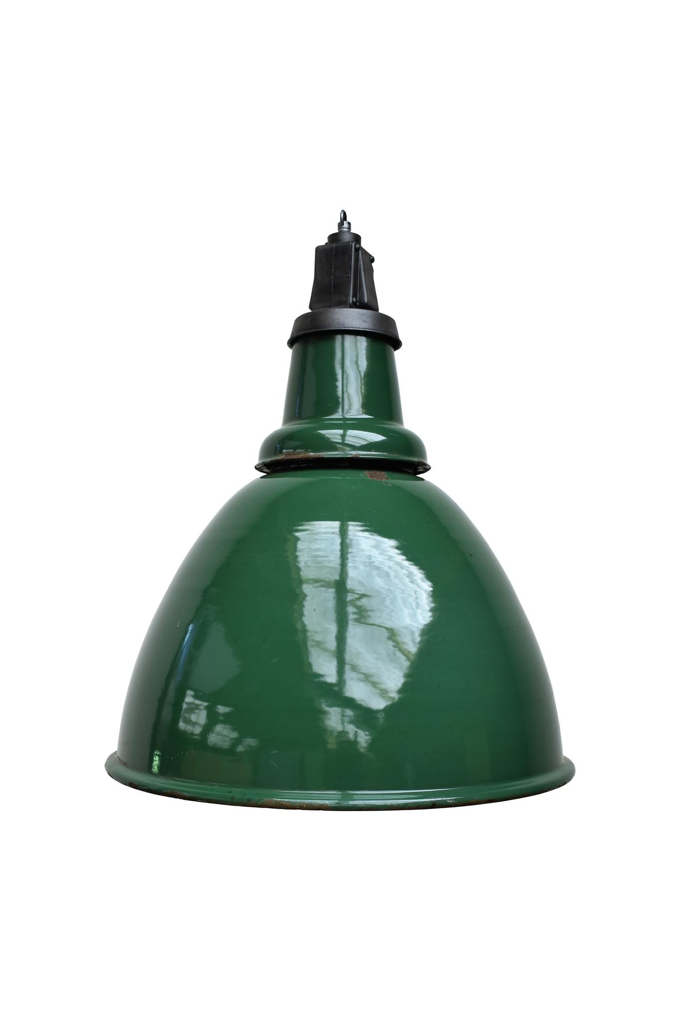 Stoere groene hanglamp