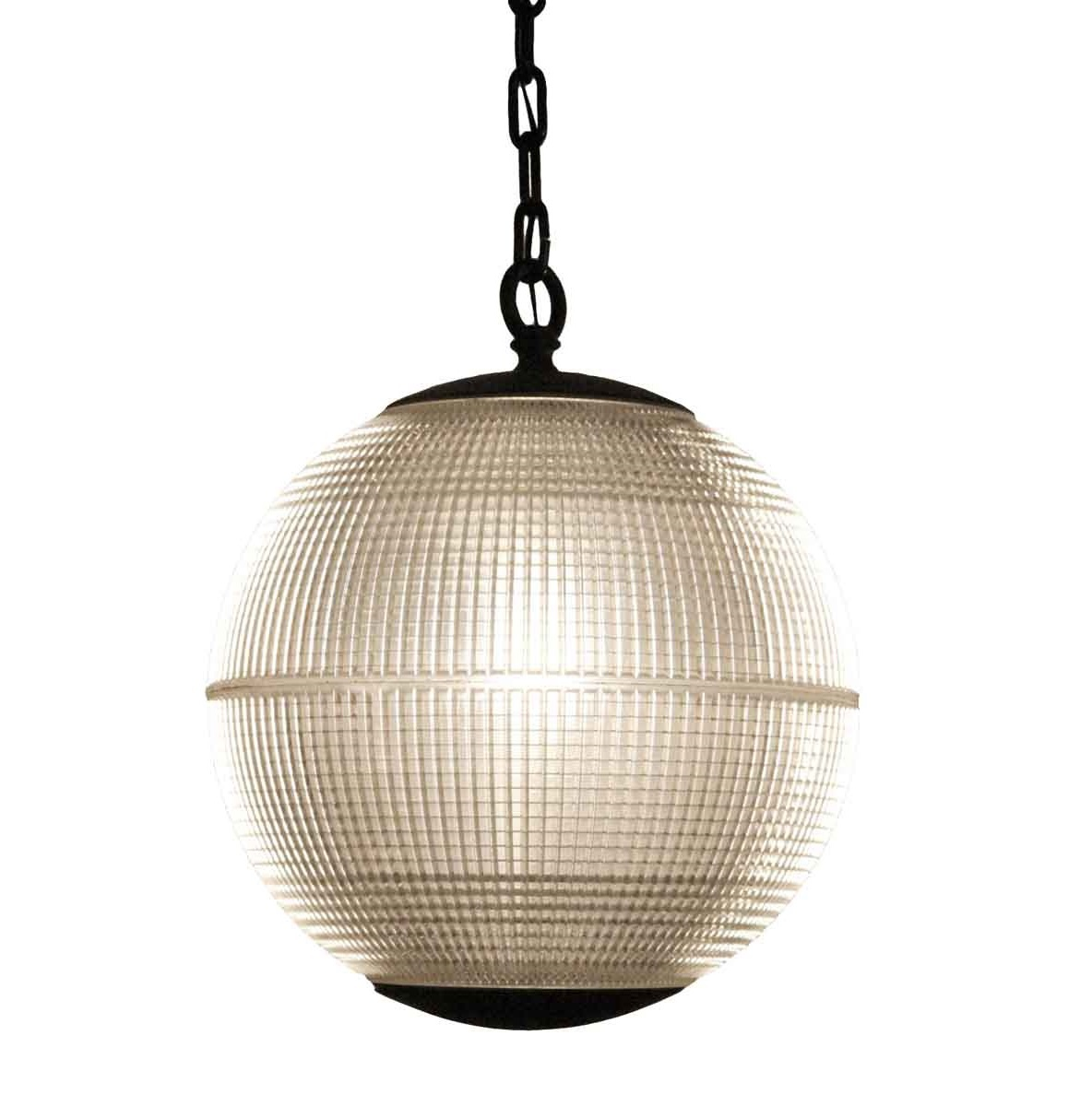 Paris Holophane glazen lamp