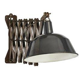 industriële  Schaarlamp / scharnierlamp / wandlamp