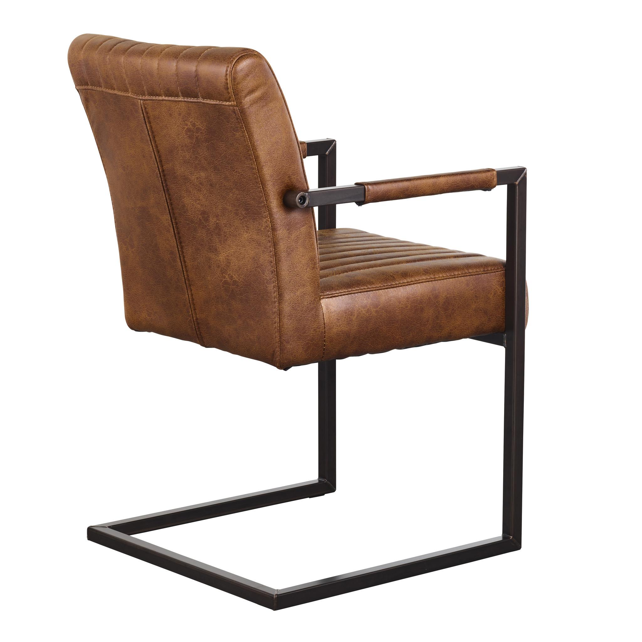 Eetkamerstoel Eetkamerstoel - Ferro armchair - dark brown
