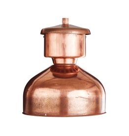 Industriële Franse lamp -  koper
