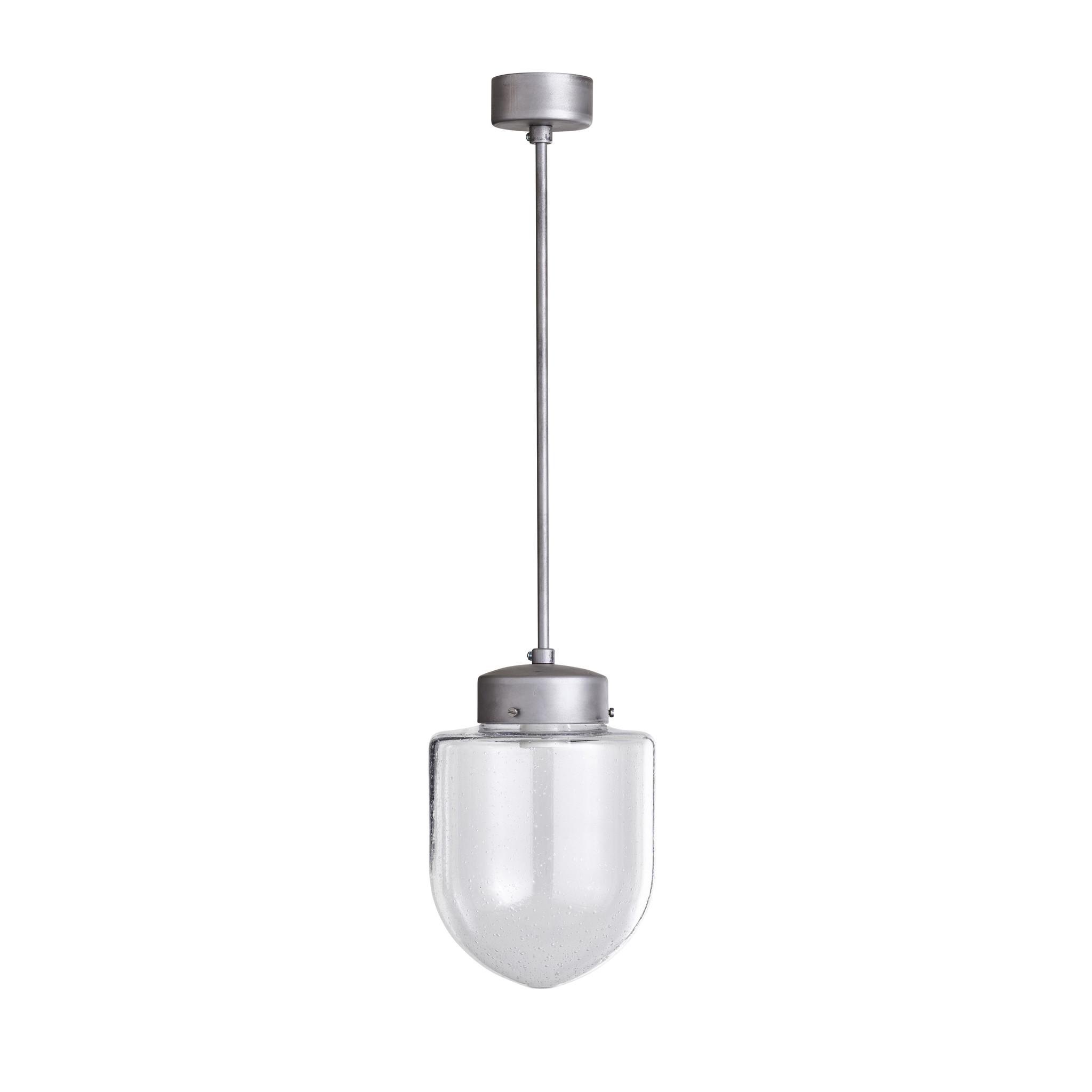 Glazen pendule lamp klein