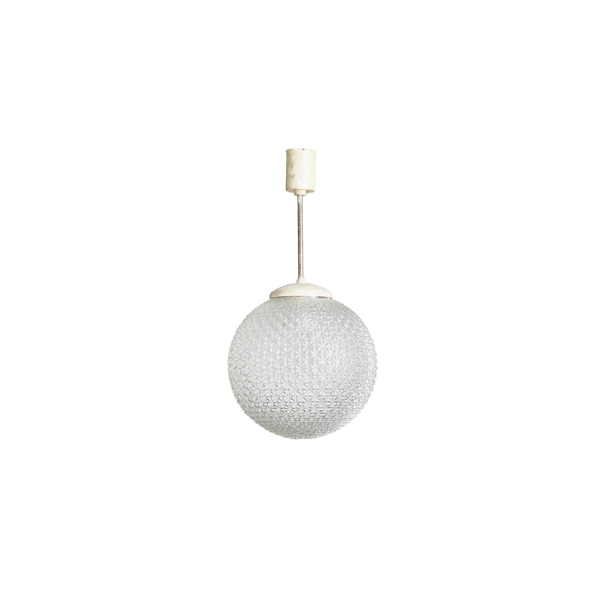 Vintage lamp - glazen bol