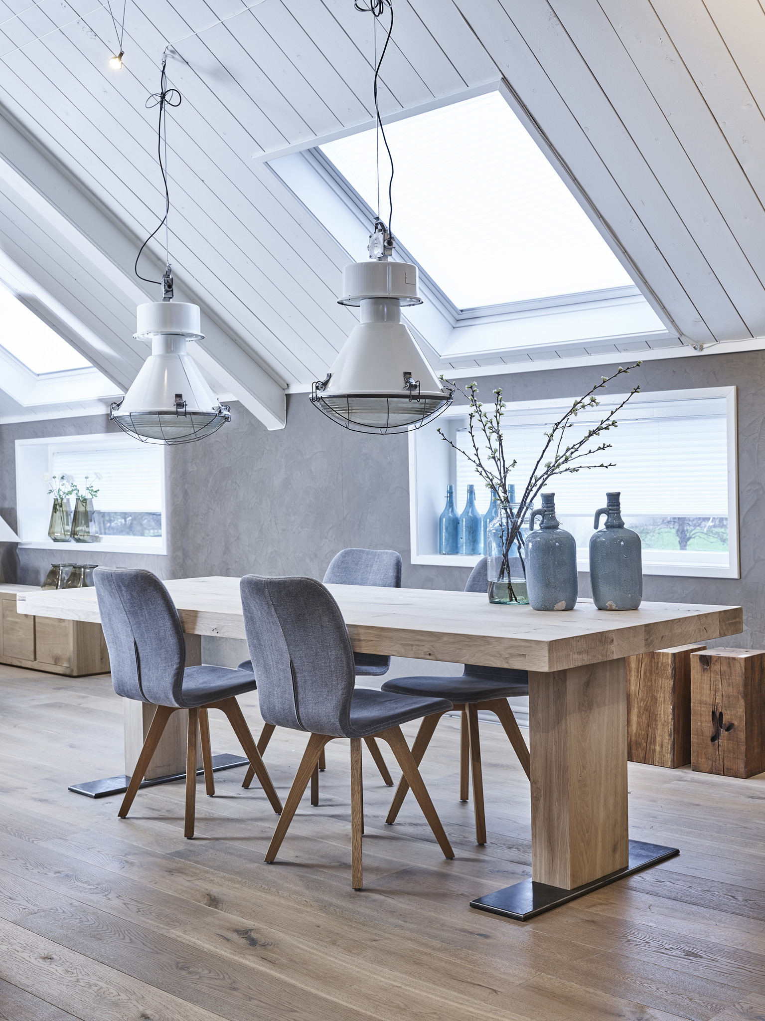 Tafel Eiken houten tafel 'Londen'