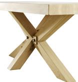 Tafel Eetkamertafel Madrid met houten onderstel