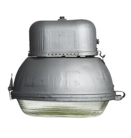 Industriële lamp - ovale lamp met glas