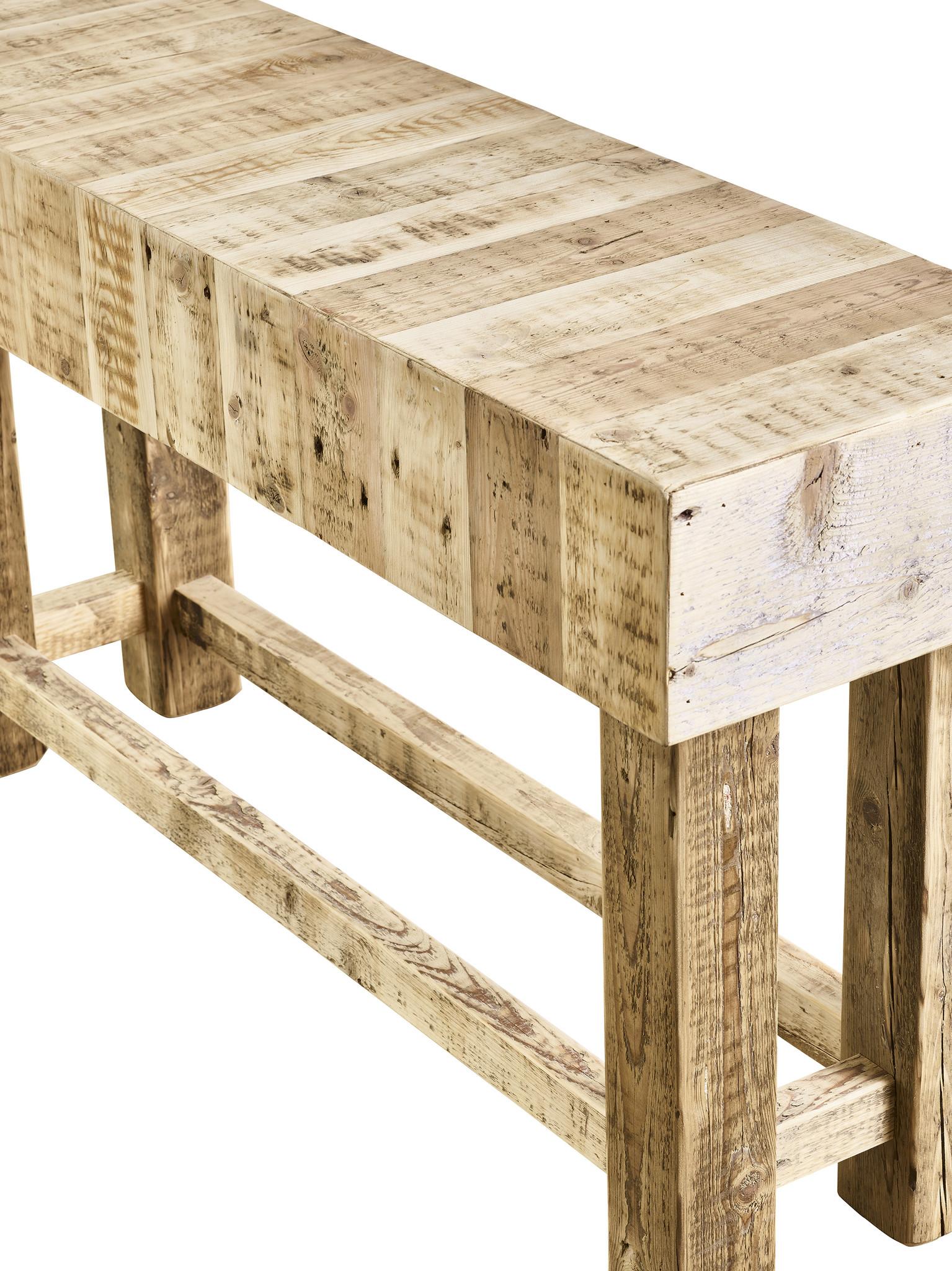 Tafel Sidetable - Bordeaux gemaakt van oud balkenhout