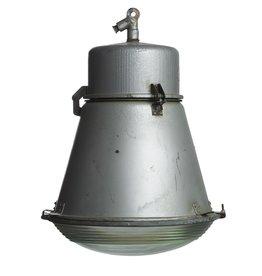 Industriële lamp - Tonnetje  met glas