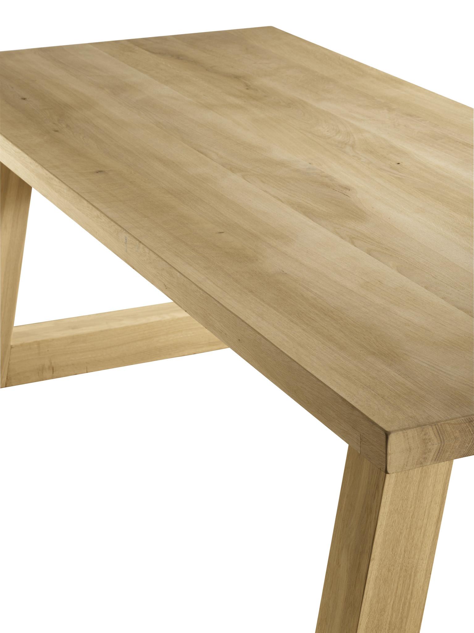 Eiken houten tafel - Trapezium