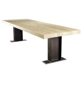 Eiken houten tafel - Fjorde