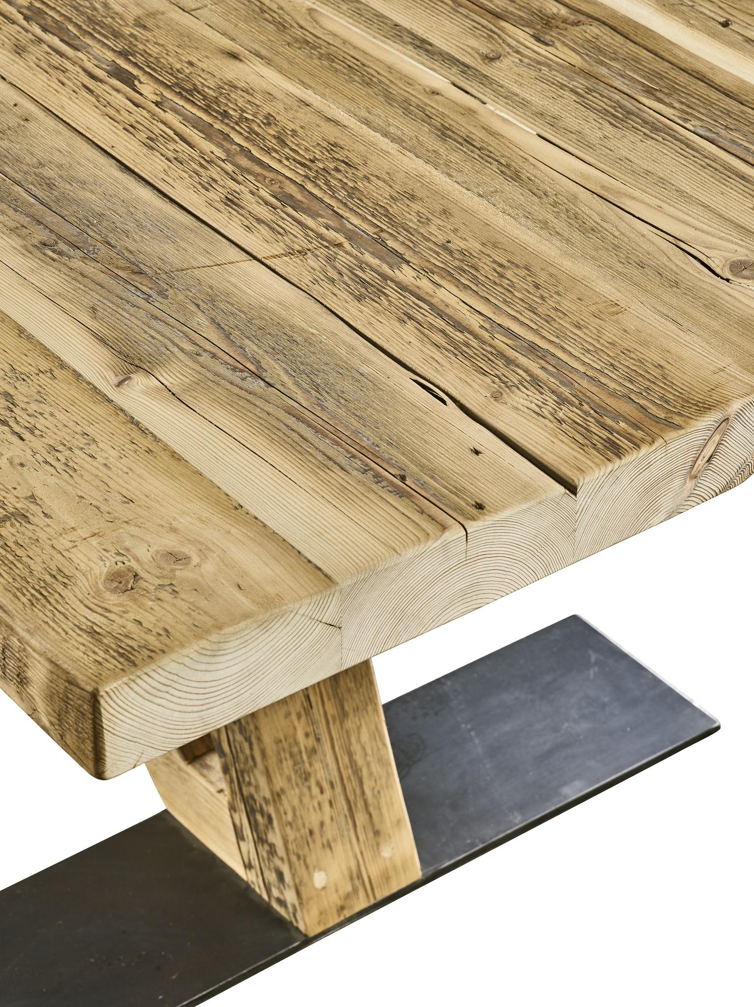 Tafel Oud balken houten tafel - Flying Dutchman (hout onderstel)