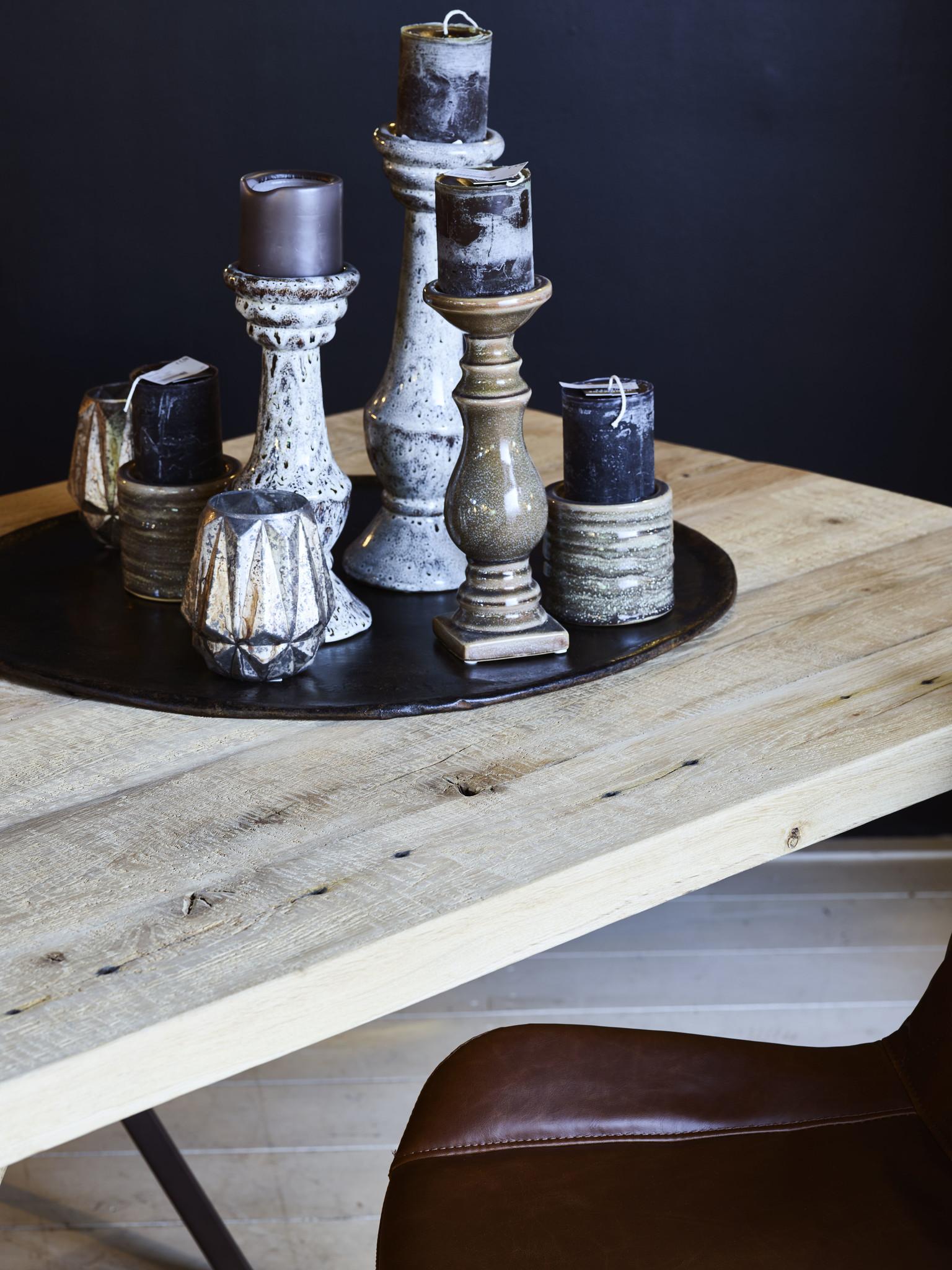 Tafel Eetkamertafel Rome met houten onderstel