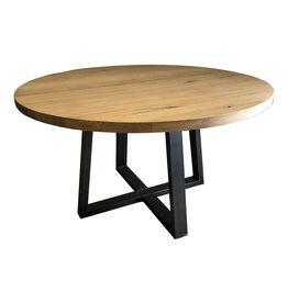 Tafel Eiken houten ronde eettafel - Barcelona
