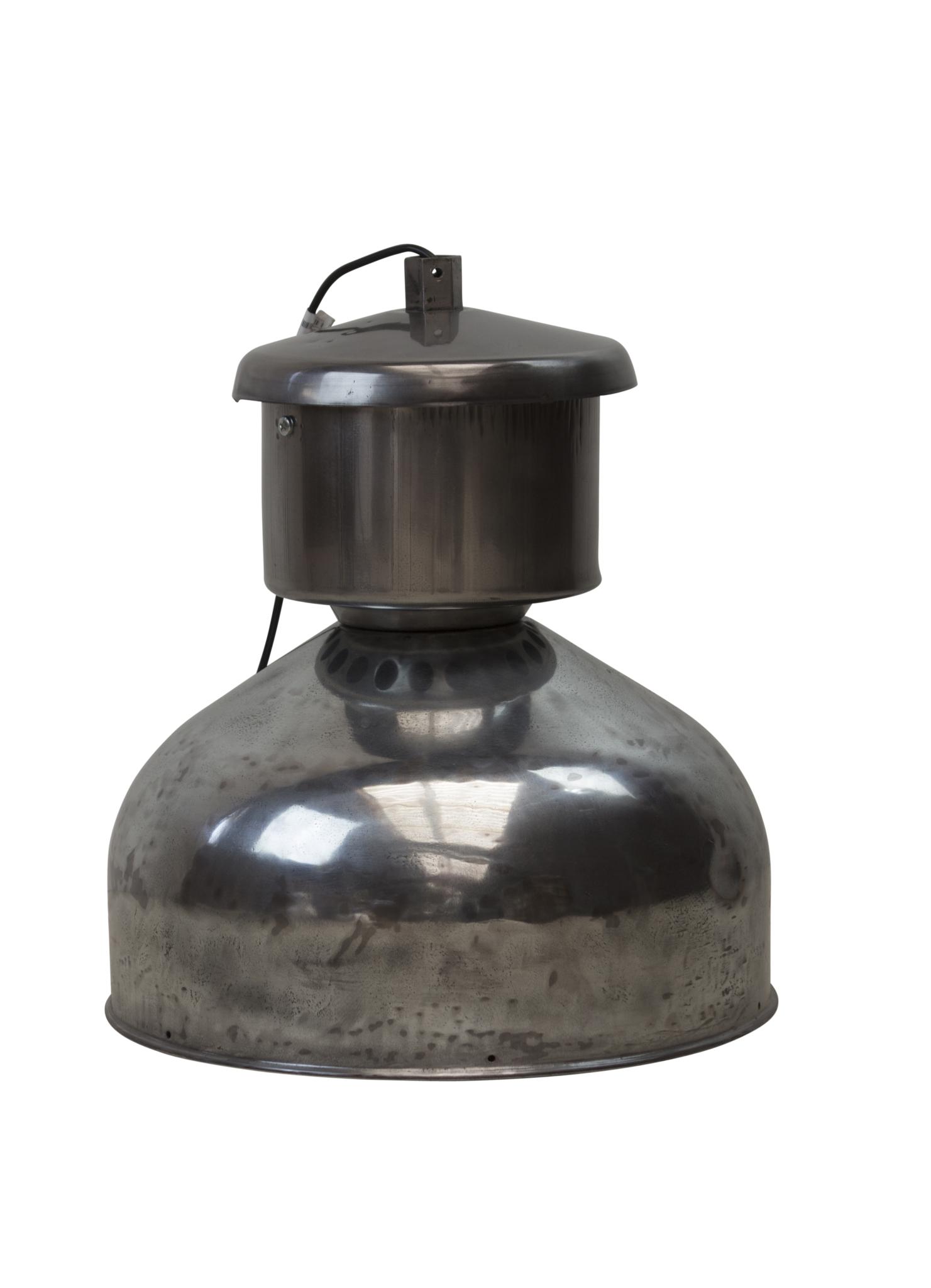 Industriële Franse lamp - verchroomd