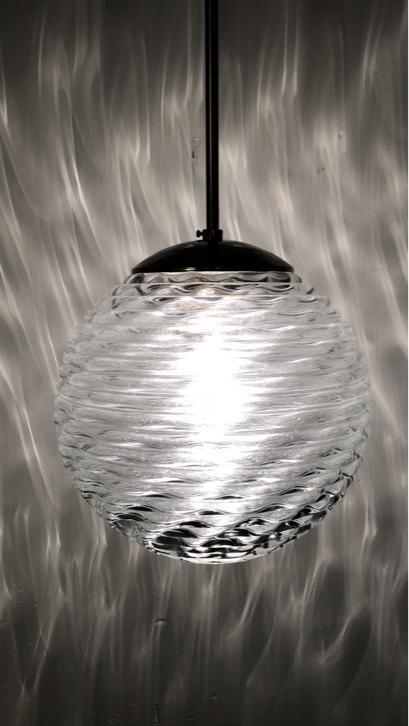 Vintage glazen hotel lamp