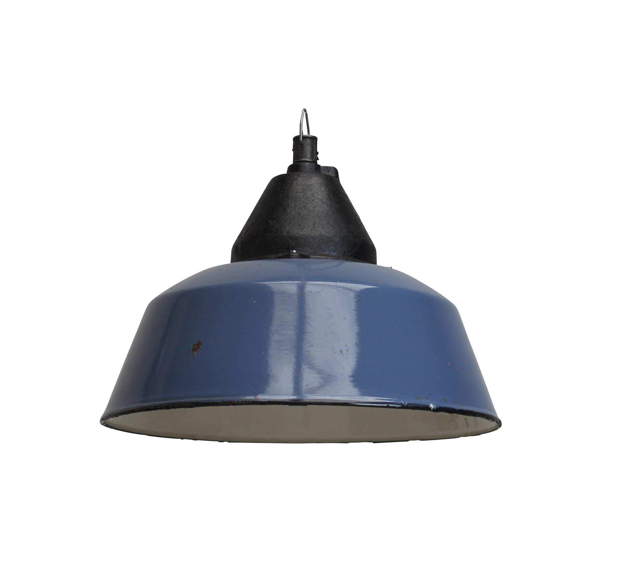 Industriele lamp Bo zonder glas blauw