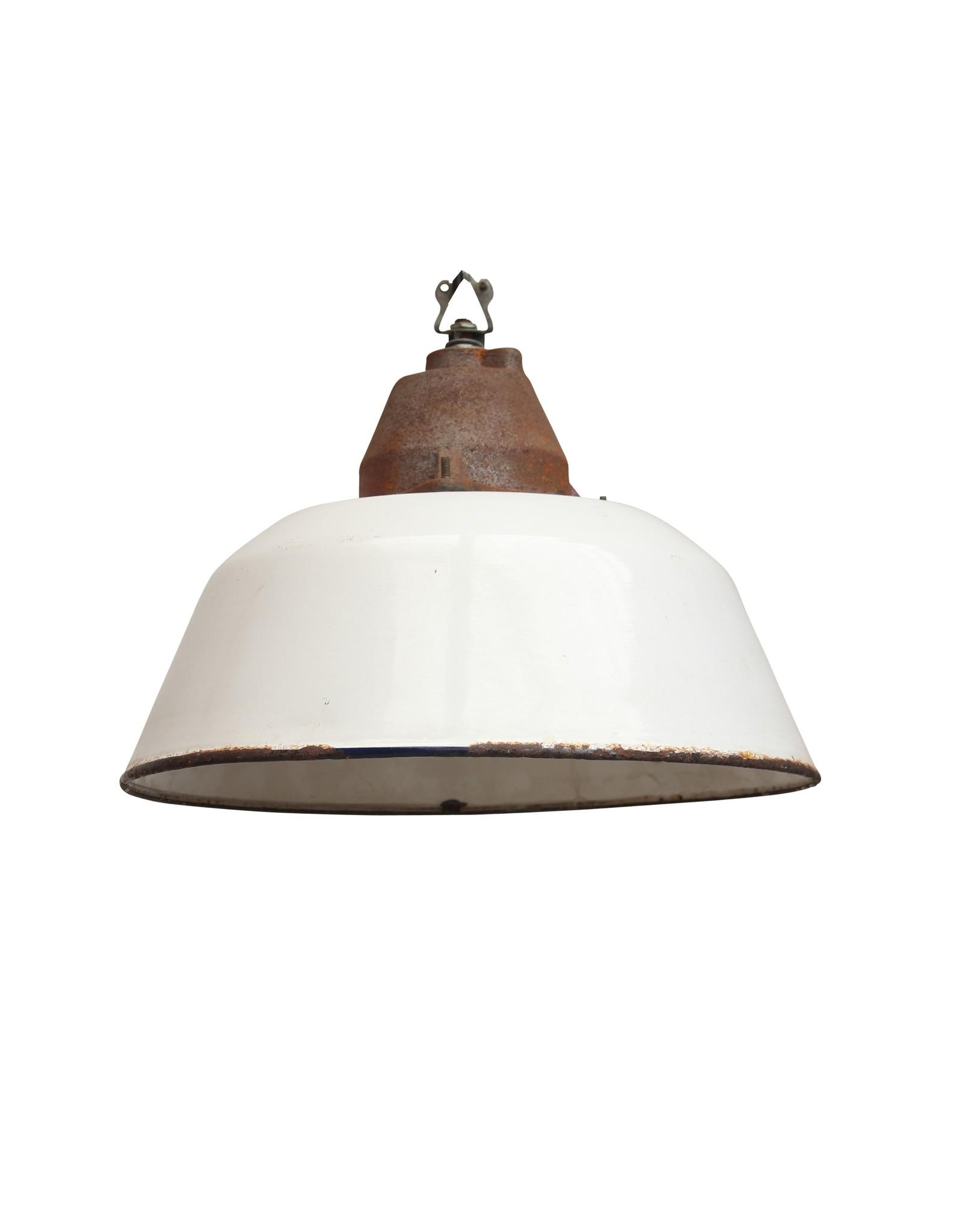 Industriële lamp -  Bo zonder glas wit