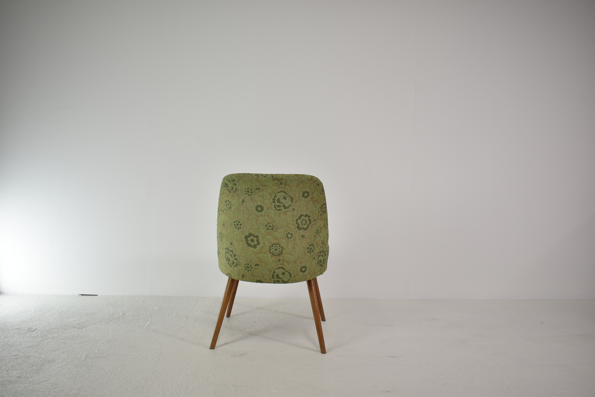 Vintage groene cocktailstoel, set van 2