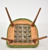 Vintage groene eetkamerstoel
