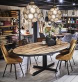 Ovale barnwood eettafel - Beau