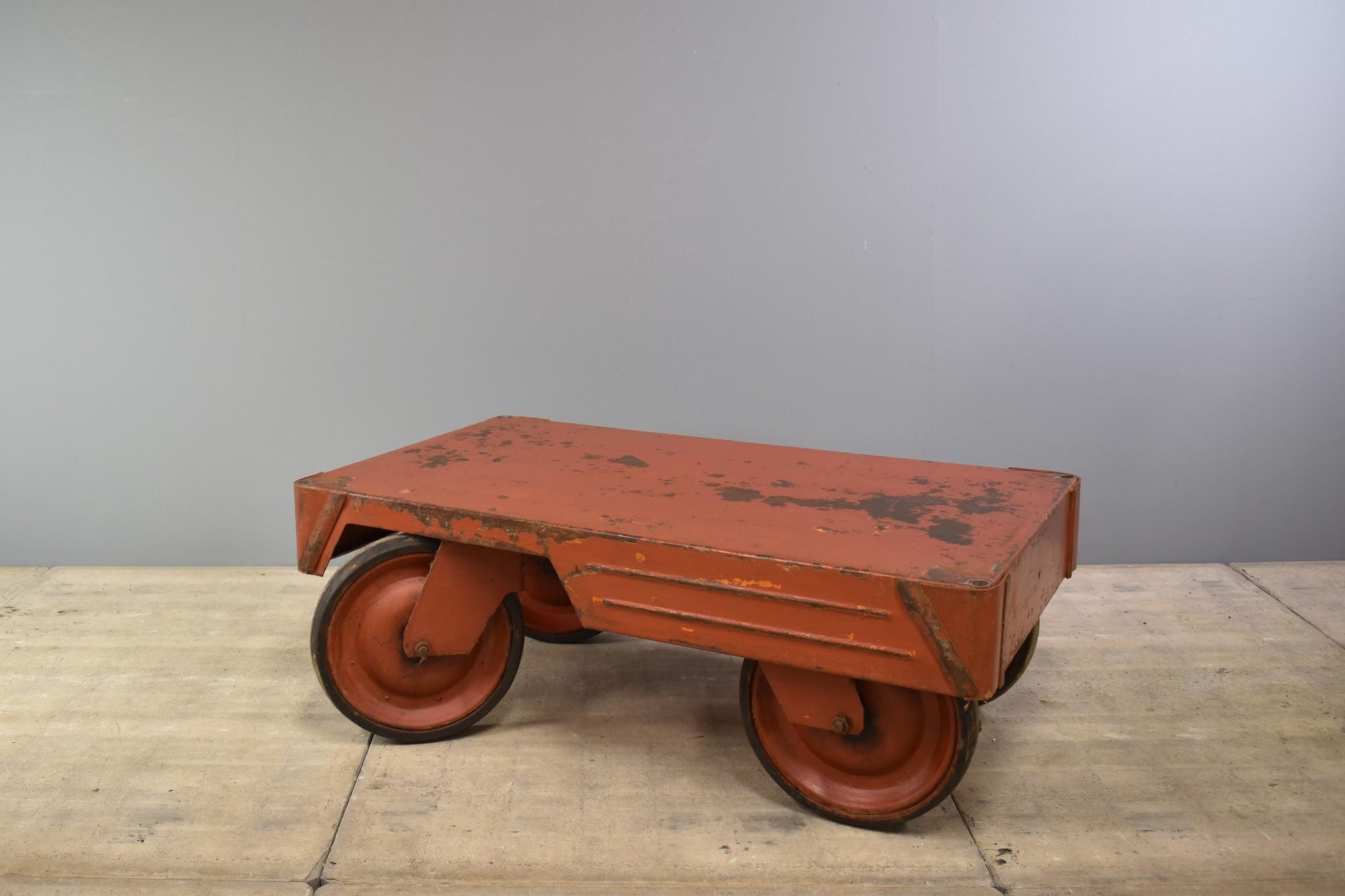 oldwood industriele trolley salontafel