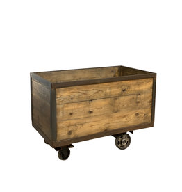 oldwood industriele trolley kist