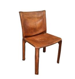 oldwood Gereserveerd- vintage lederen stoel  ''mario bellini''