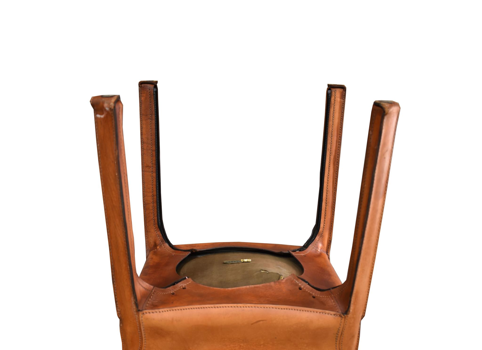 vintage lederen stoel Oldwood De Woonwinkel