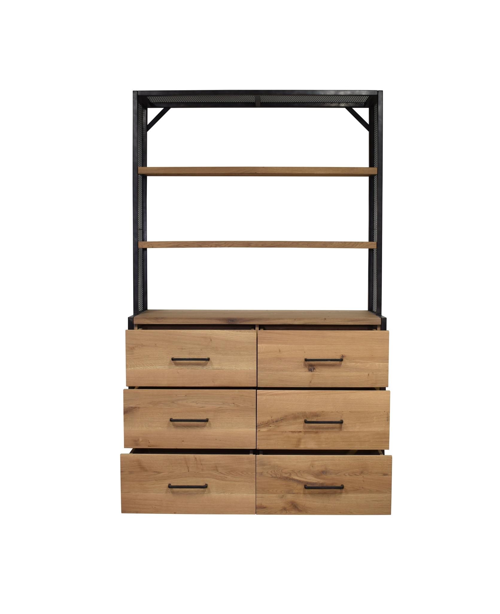Industrieel meubel Houten winkelkast Provence