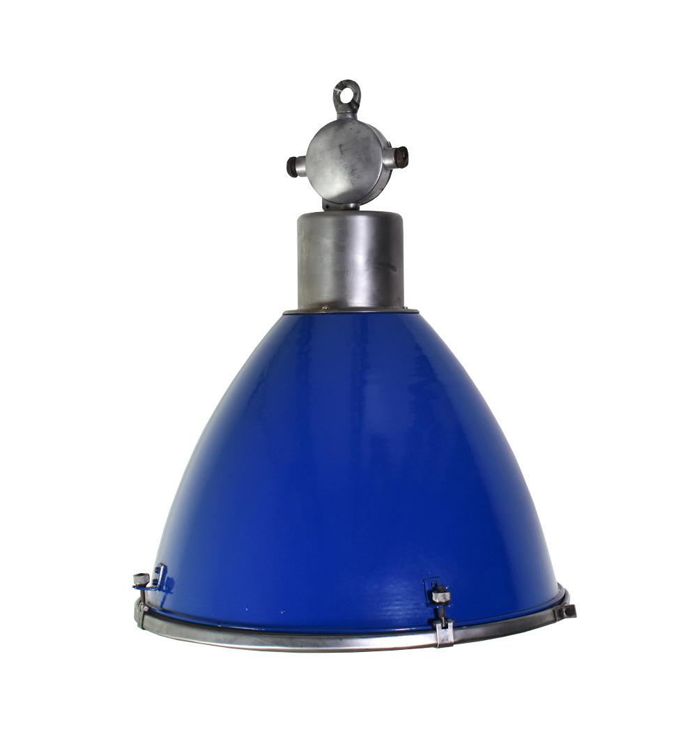 Industriële lampen - Basic met elektrobox  - blauw
