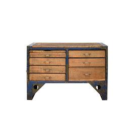 Industrieel meubel (Verkocht) Industrieel ladeblok