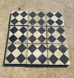 oude vloertegels - blok motief