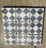 vloertegels met patroon  - blok motief