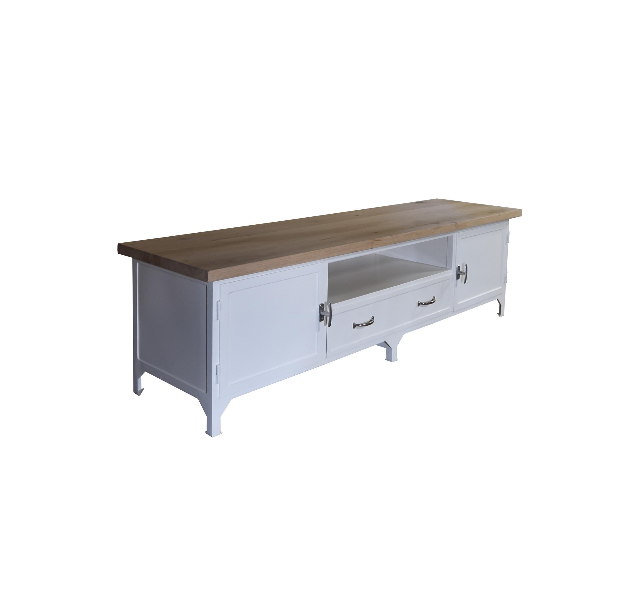 TV meubel eikenhout/metaal 'Maine'