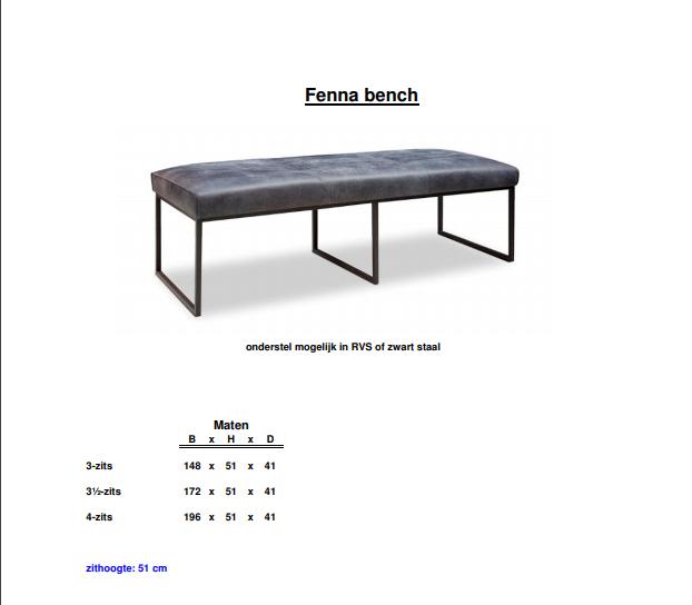 Eetkamerbank Fenna | Het Anker