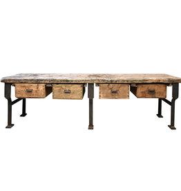 Industrieel meubel Volledige houten werkbank