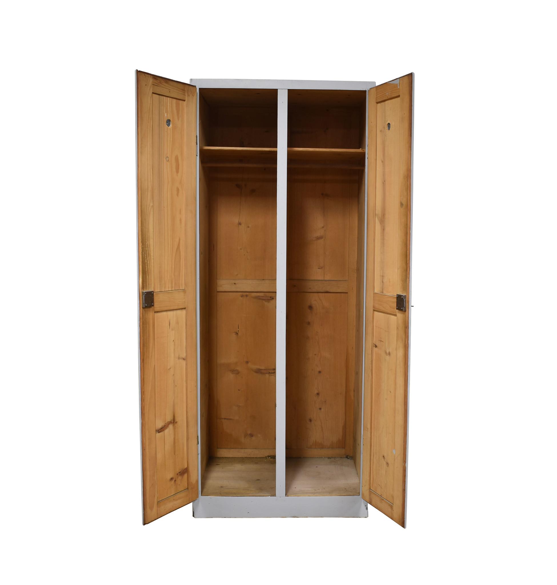 Vintage houten locker blauw