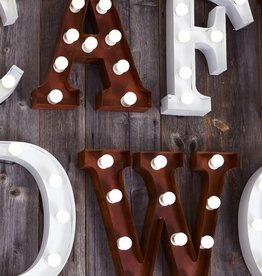 Tough Vintage Light Letter - Rust